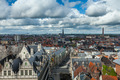 Aerial view of Ghent from Belfry. Ghent, Belgium - PhotoDune Item for Sale