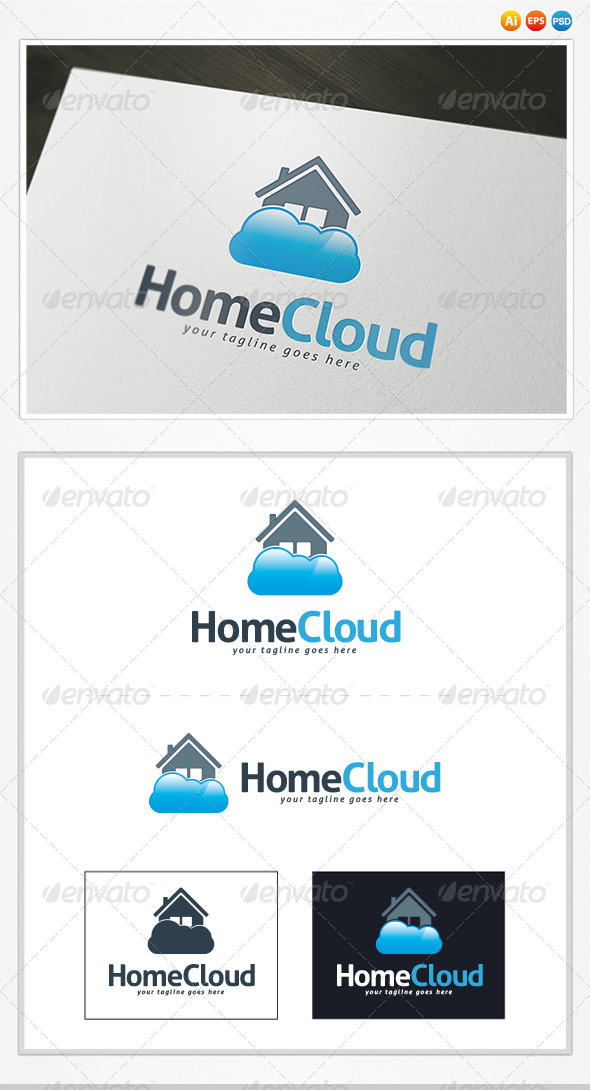 GraphicRiver Home Cloud Logo 4531262