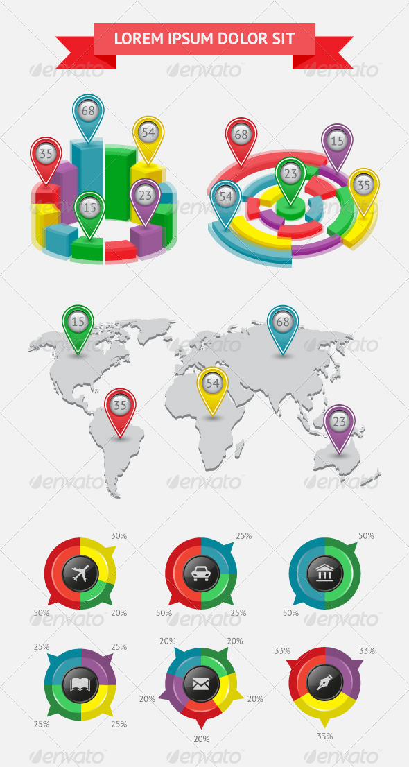 GraphicRiver Infographics and Web Elements 4531302