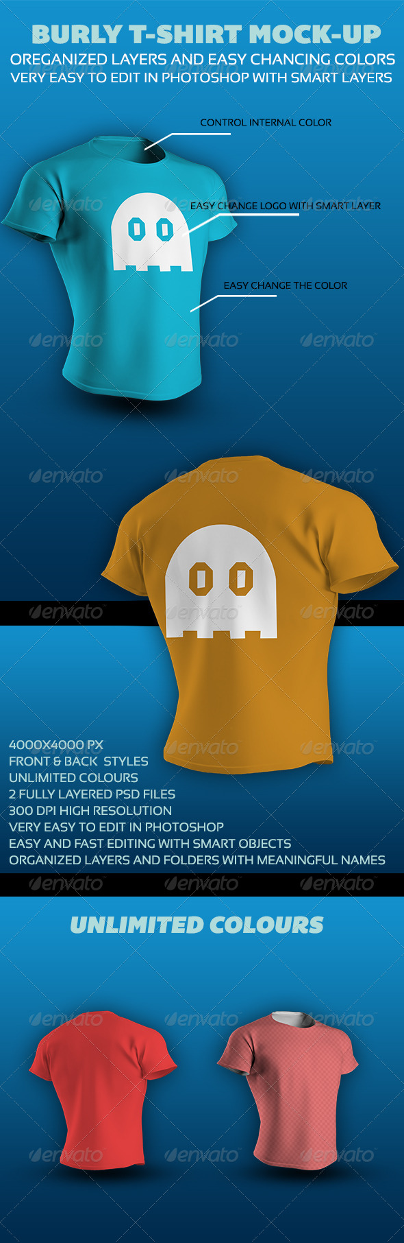 GraphicRiver Burly T-Shirt Mock-up 4467529