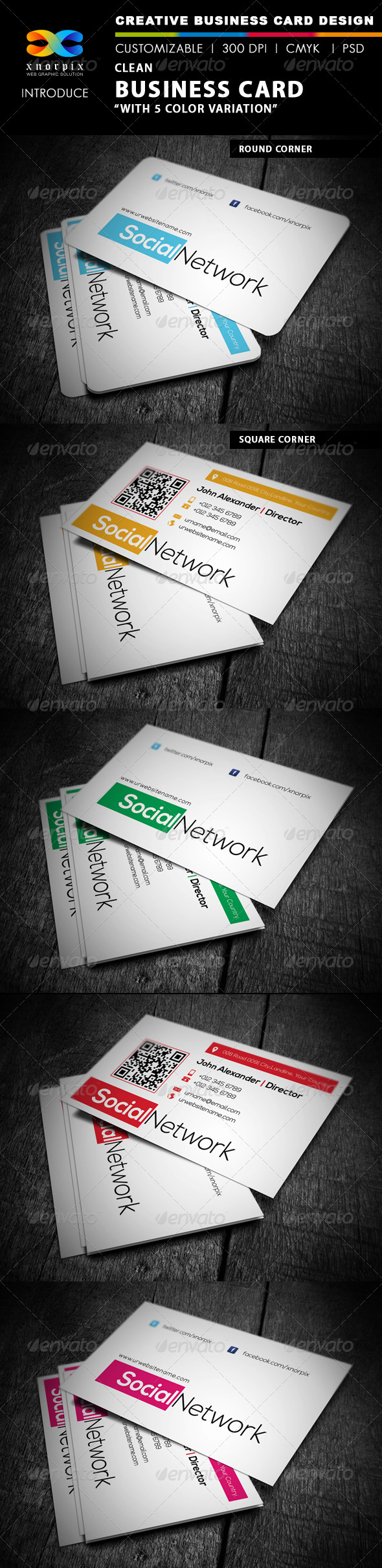 GraphicRiver Clean Business Card 4445456