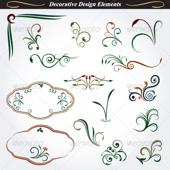 GraphicRiver Collection of Decorative Design Elements 6 4531490