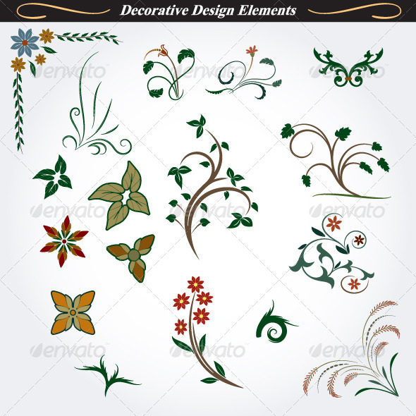 GraphicRiver Collection of Decorative Design Elements 8 4531541