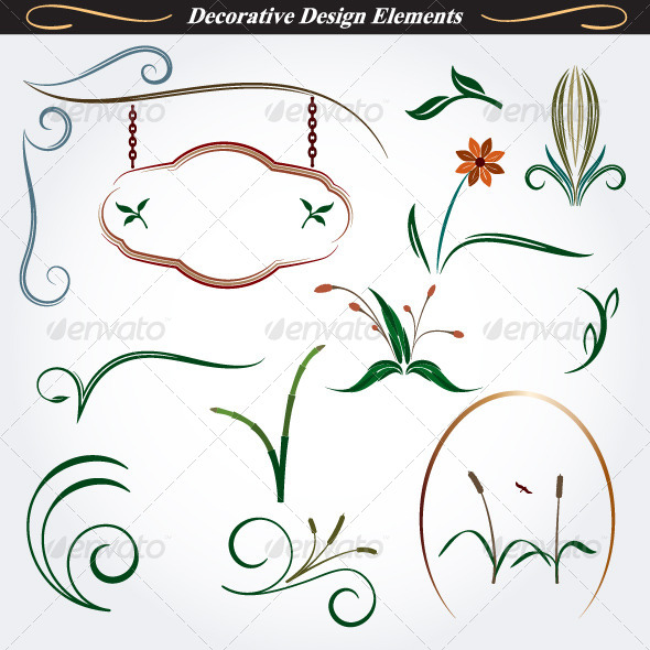 GraphicRiver Collection of Decorative Design Elements 9 4531600