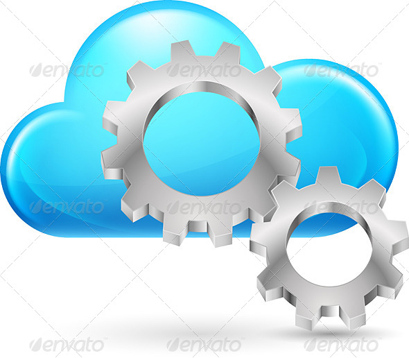 GraphicRiver Cloud with Gearwheel 4531602
