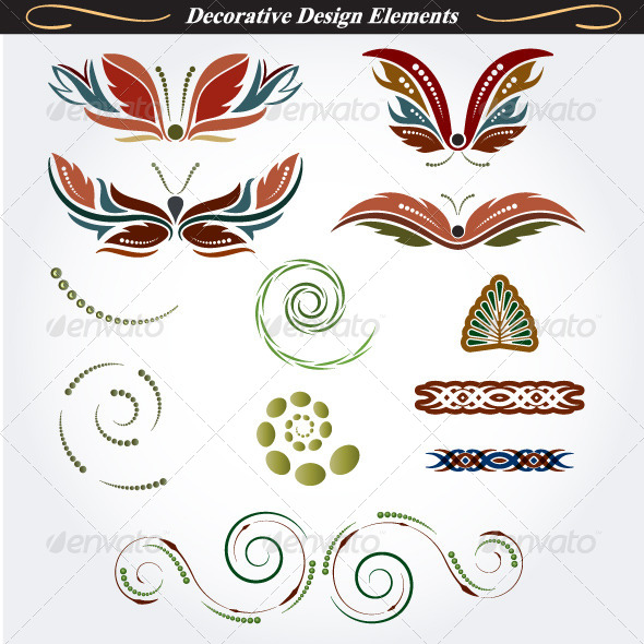 GraphicRiver Collection of Decorative Design Elements 12 4531786
