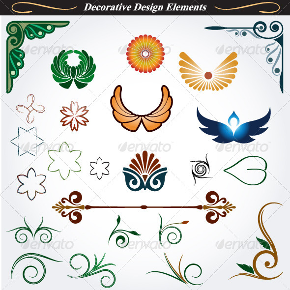 GraphicRiver Collection of Decorative Design Elements 13 4531796