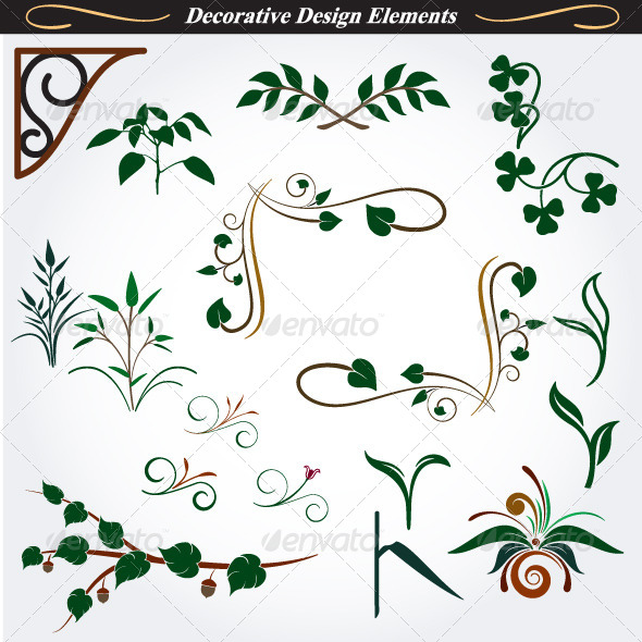 GraphicRiver Collection of Decorative Design Elements 14 4531805