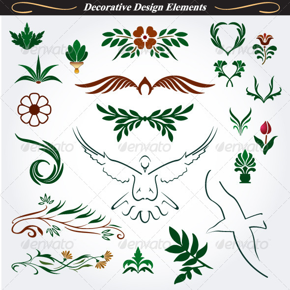 GraphicRiver Collection of Decorative Design Elements 15 4531902