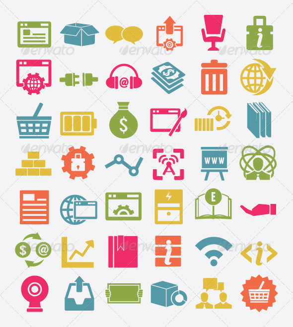 GraphicRiver Set of Internet Service Icons 4532421