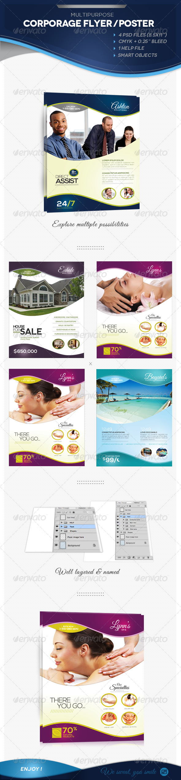 GraphicRiver Multipurpose Corporate Flyer AD Poster 4453746