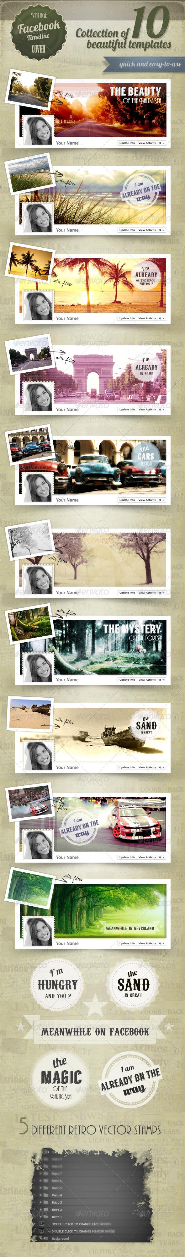 GraphicRiver Retro Fb Timeline Cover 4491346