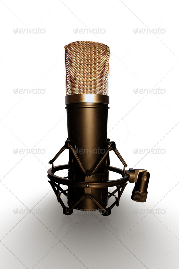 Studio Microphone  - Stock Photo - Images