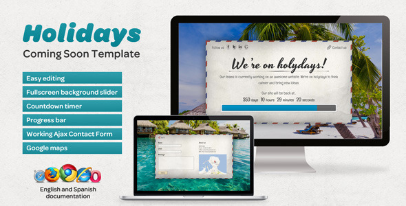 ThemeForest Holidays Coming Soon Template 4514352