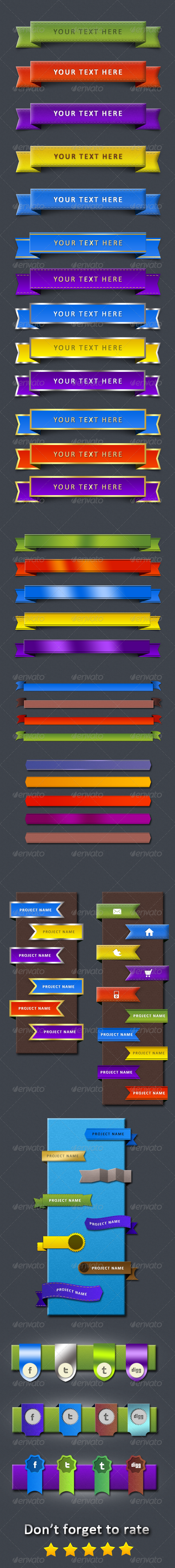 GraphicRiver Web Ribbons 4532720