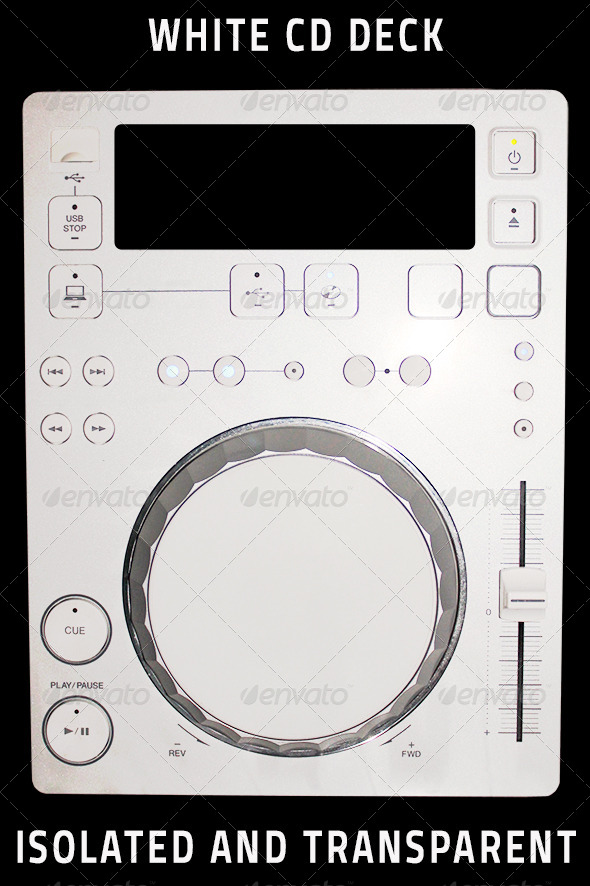 GraphicRiver Isolated White CD Deck 4532804