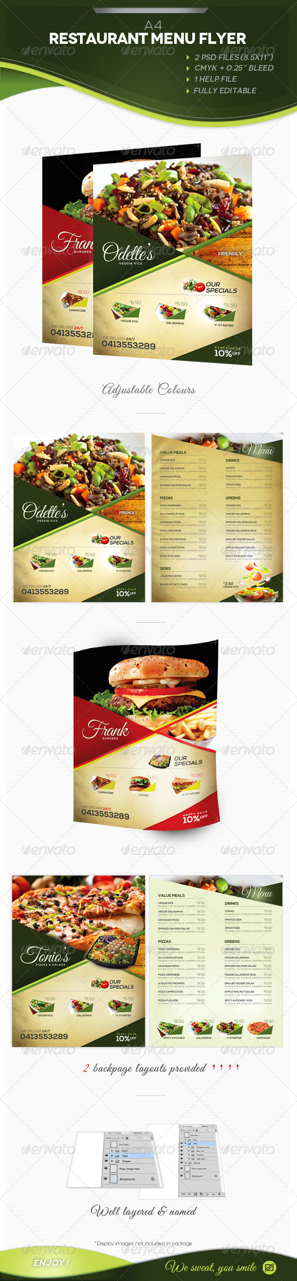 GraphicRiver A4 Restaurant Menu 4533023