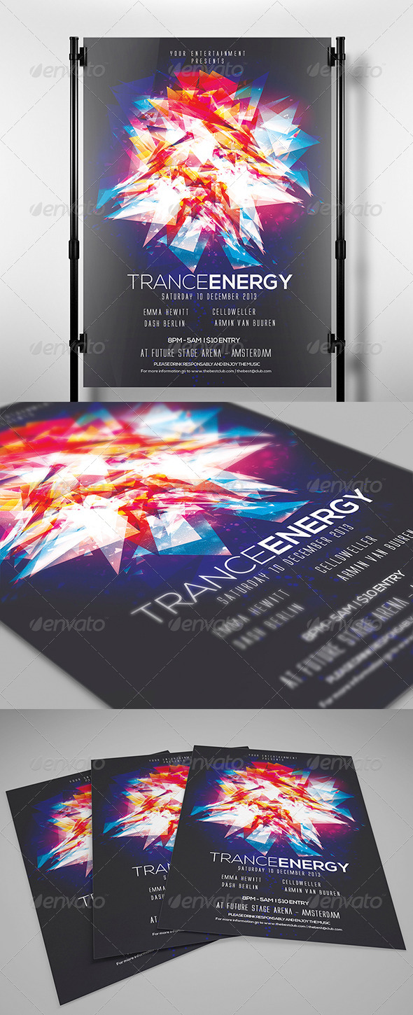 GraphicRiver Trance Energy Flyer Template 4445000