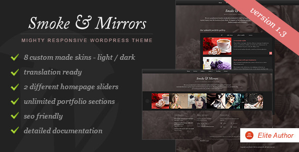 Smoke & Mirrors Wordpress Theme - Portfolio Creative