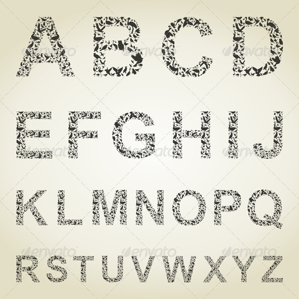 GraphicRiver Bird the Alphabet 4533325
