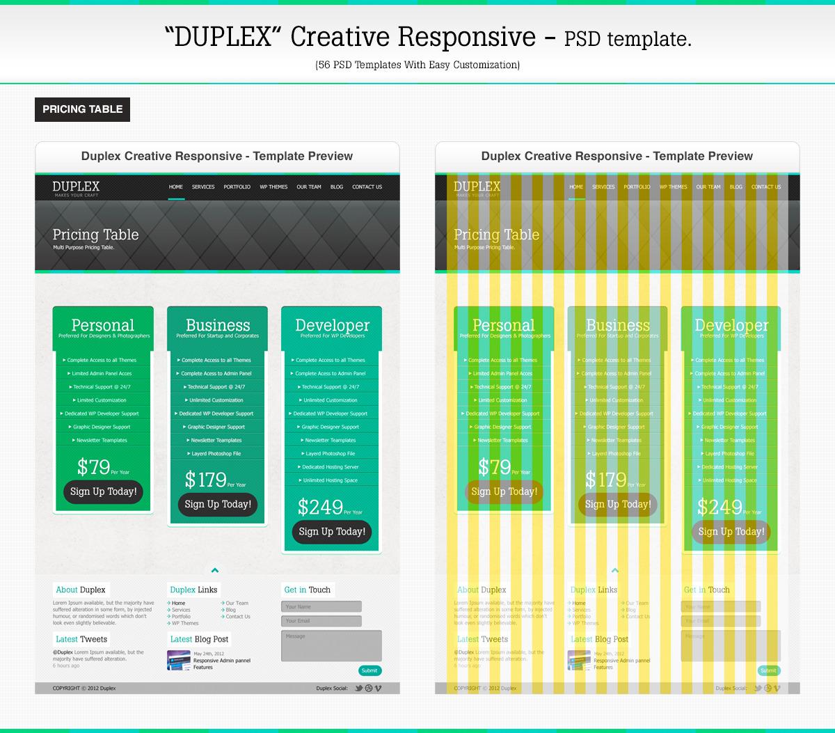 Duplex Creative Responsive PSD Template