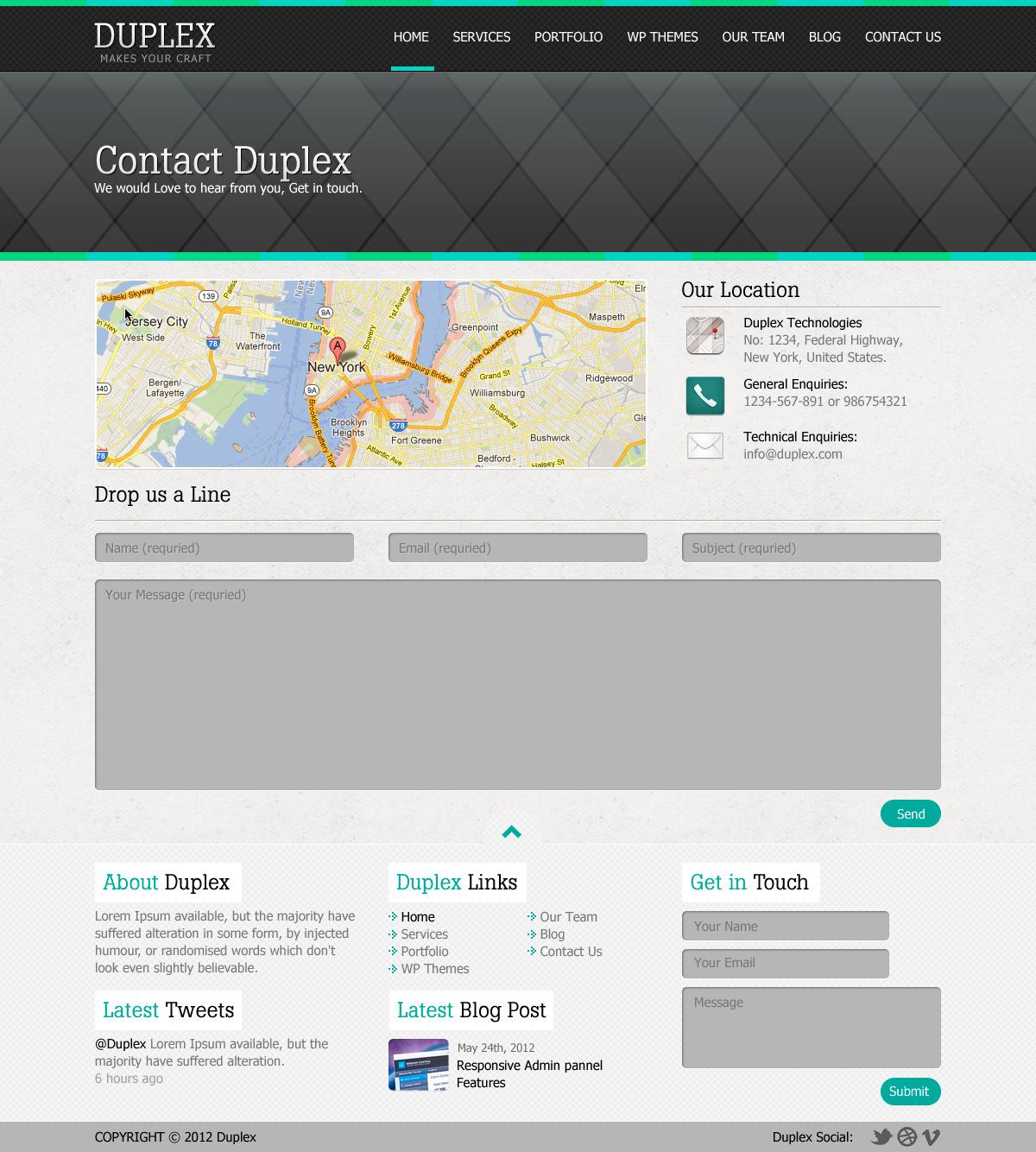 Duplex Creative HTML Template.