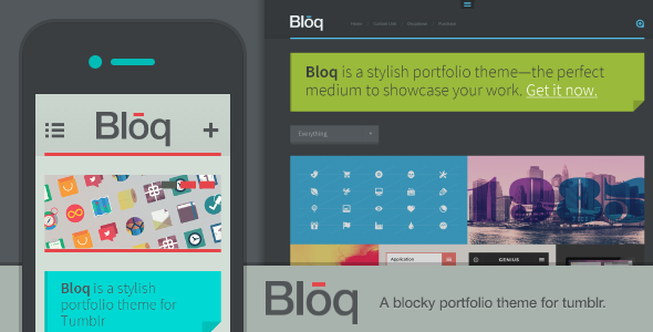 ThemeForest Bloq A Blocky Portfolio Theme for Tumblr 4533643