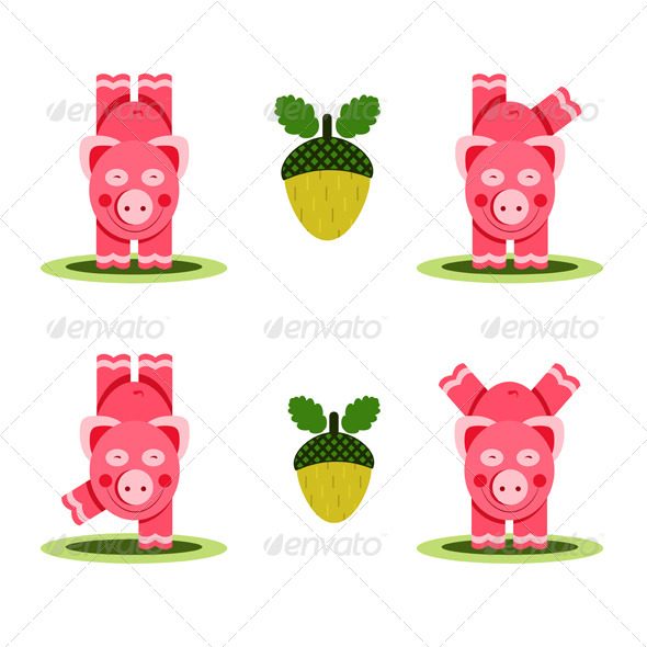 GraphicRiver Small Pigs Playing 4533715