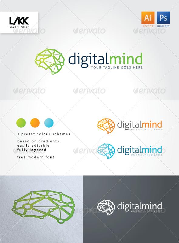 GraphicRiver DigitalMind logo 4533930