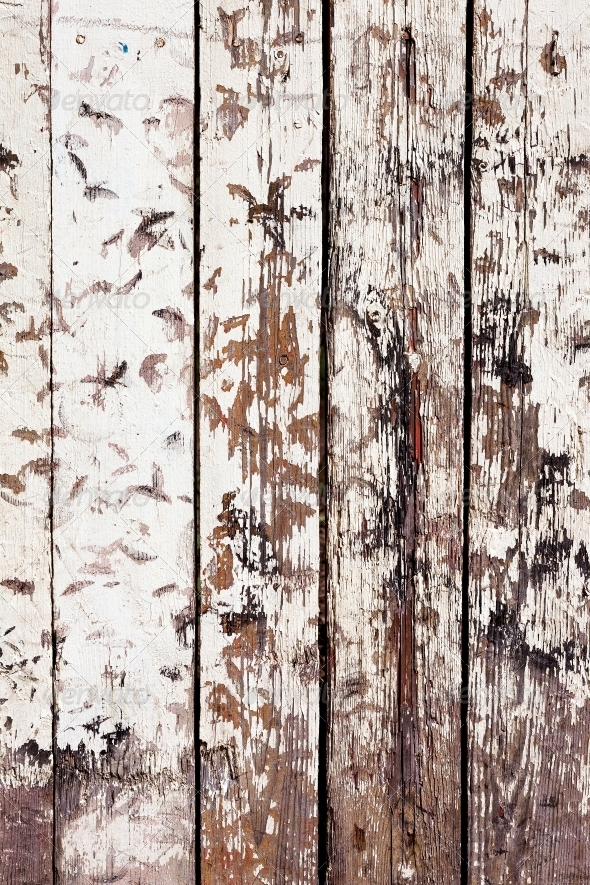 GraphicRiver grungy white background of natural wood 4534191