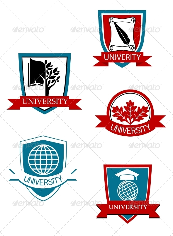 GraphicRiver Set of University and College Symbols 4534246