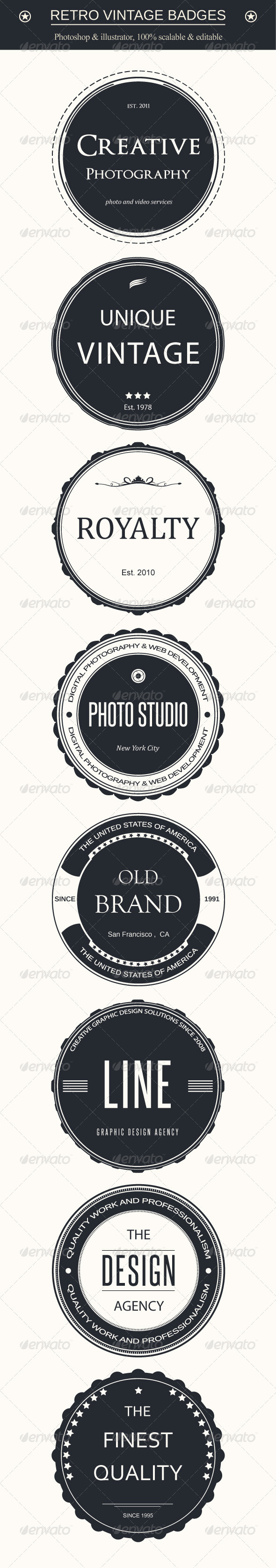 GraphicRiver Retro Vintage Badges 4534249