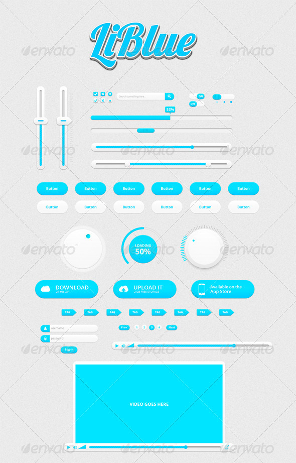 GraphicRiver LiBlue UI Kit 4534276