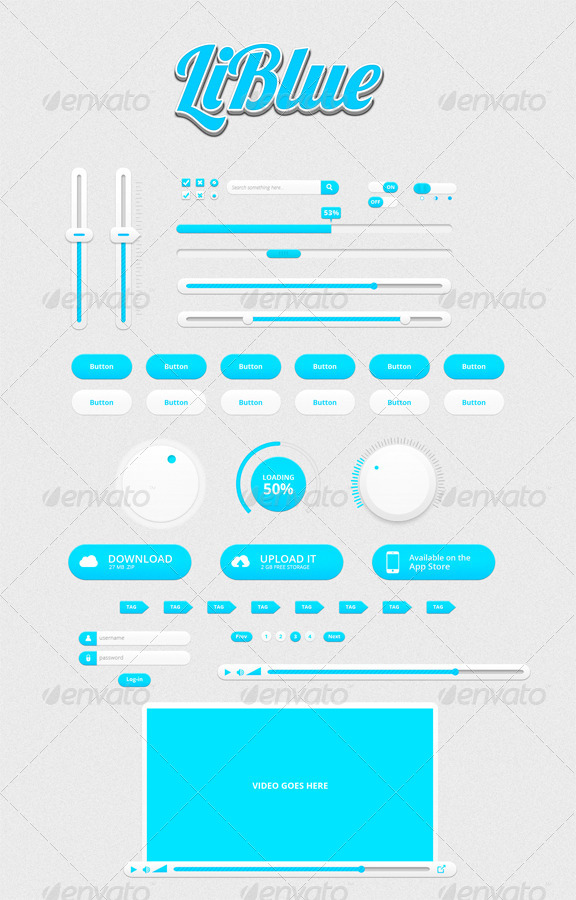 LiBlue UI Kit