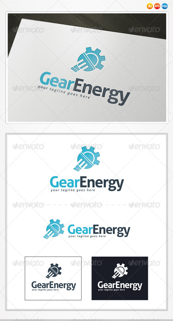 GraphicRiver Gear Energy Logo 4534285