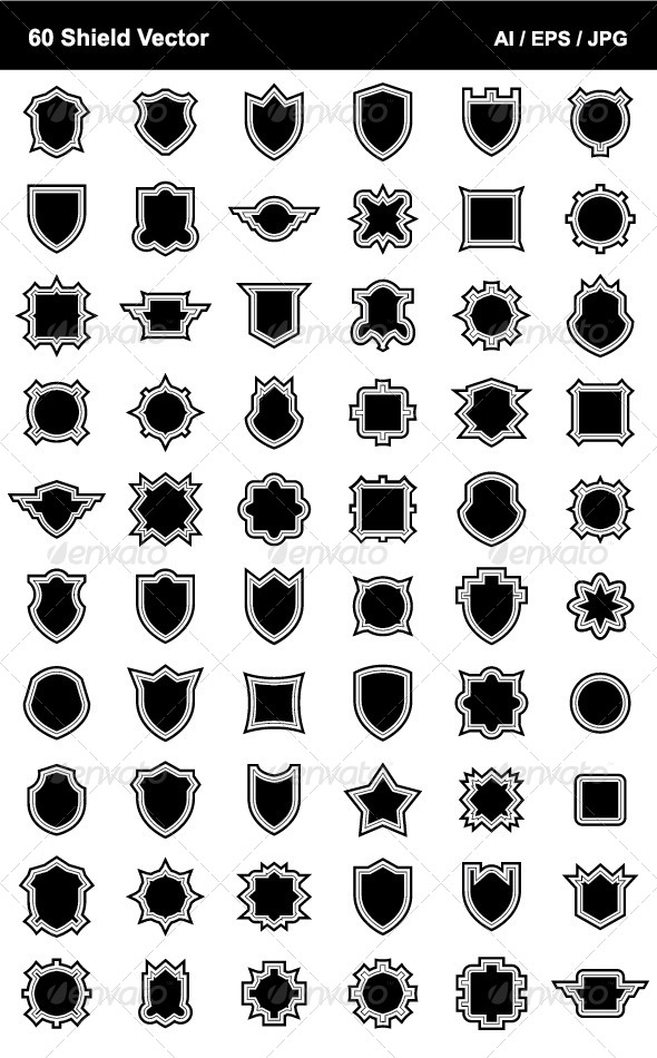 GraphicRiver 60 Shield Vector 4534292
