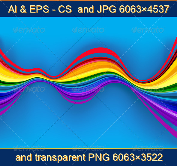 GraphicRiver Abstract Rainbow Waves for Web Design 4534332