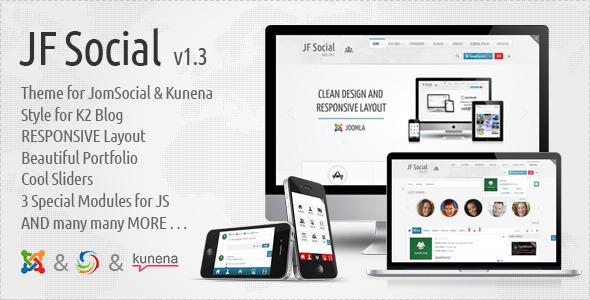JF Social - Joomla JomSocial Template - Joomla CMS Themes