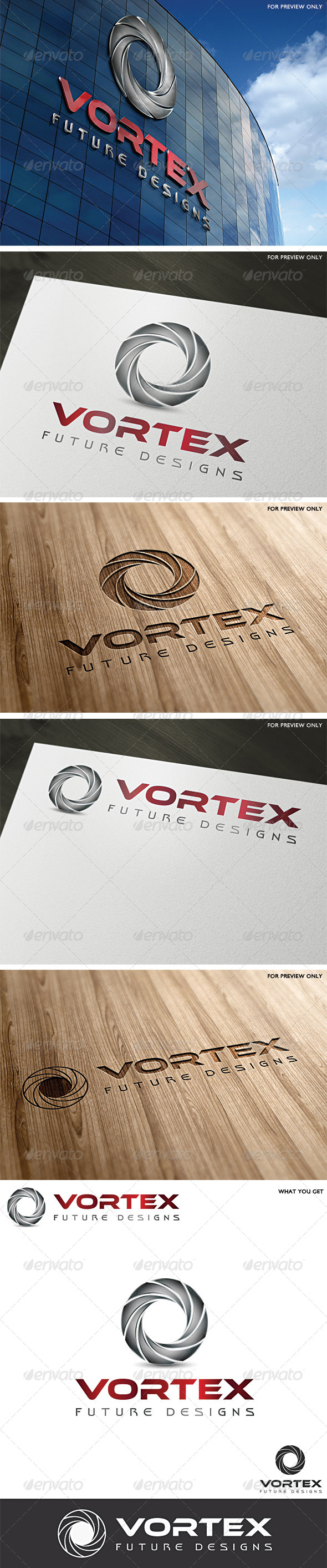 Vortex Logo Template - Vector Abstract