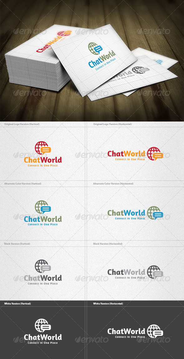 GraphicRiver Chat World Logo 4536011