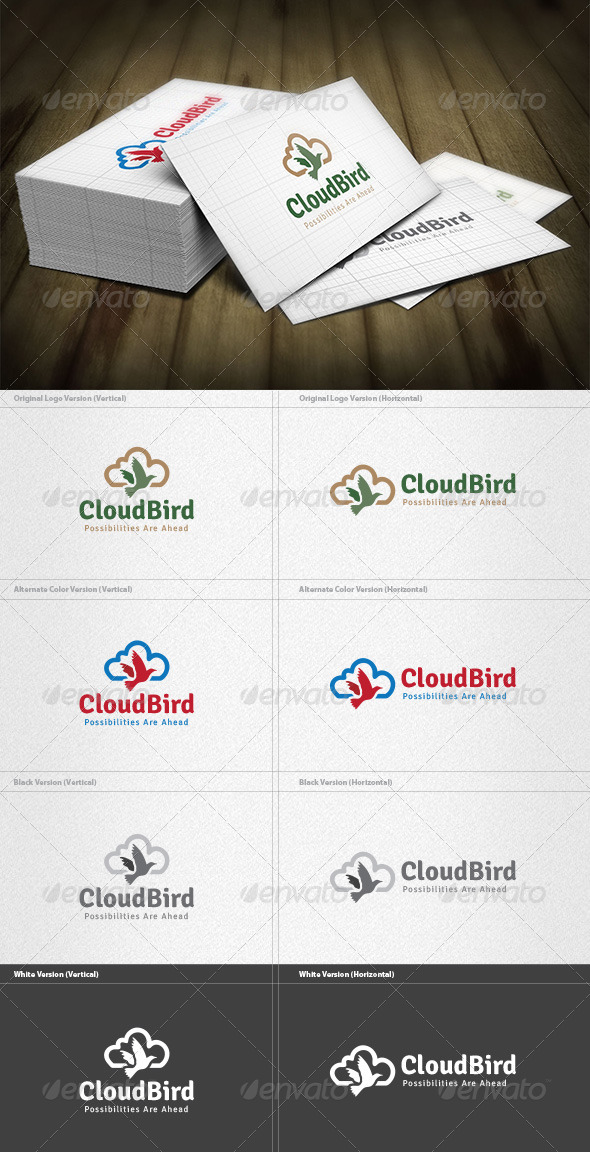 GraphicRiver Cloud Bird Logo 4536034