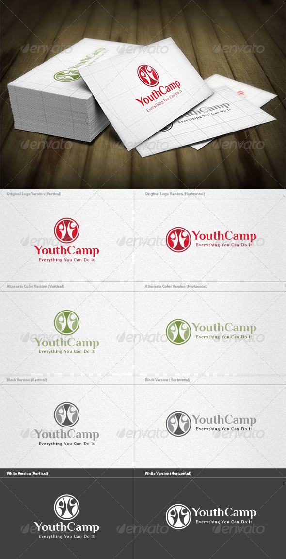 GraphicRiver Youth Camp Logo 4536064