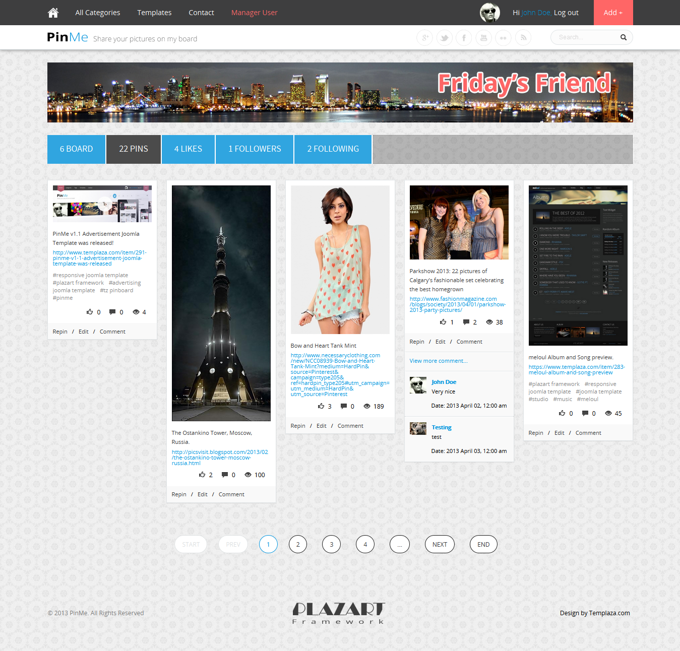 PinMe - Advertisement Responsive Joomla Template