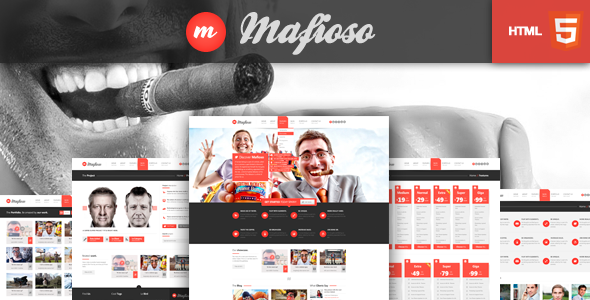 Mafioso HTML 5 Responsive Template