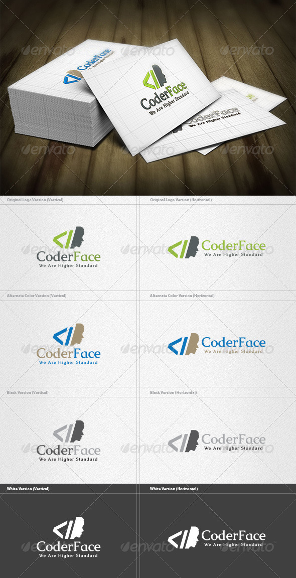 GraphicRiver Coder Face Logo 4497053