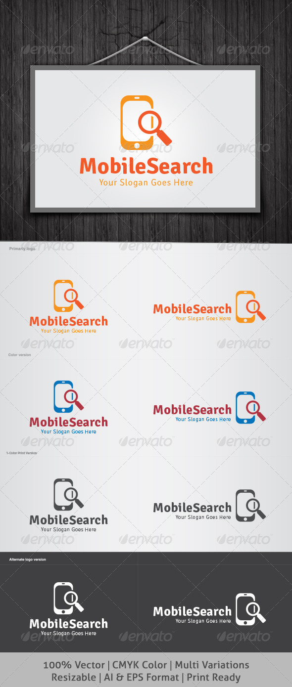 Mobile Search Logo - Symbols Logo Templates