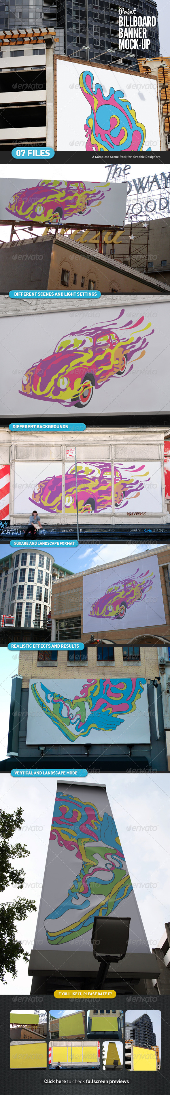 GraphicRiver Billboard Banner Mock-Up 4536490