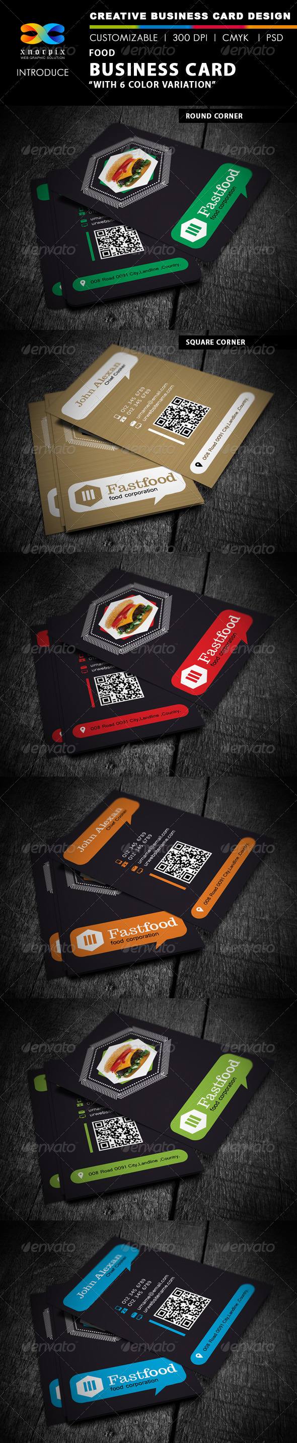 GraphicRiver Food Business Card 4536616