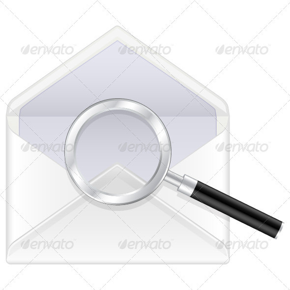 Envelope and Magnifier