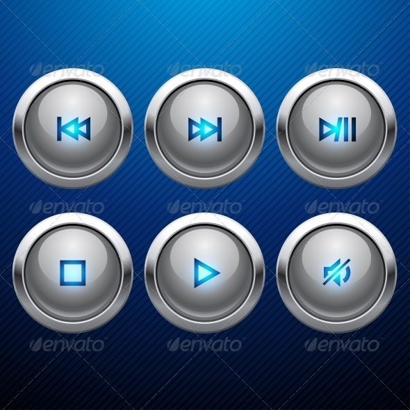 GraphicRiver Glossy Multimedia Control Web Icon Set 4536680
